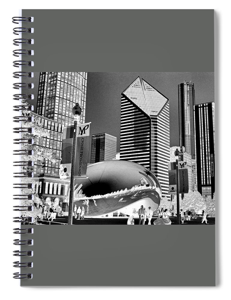 The Bean Spiral Notebook featuring the photograph The Bean - 2 by Ely Arsha
