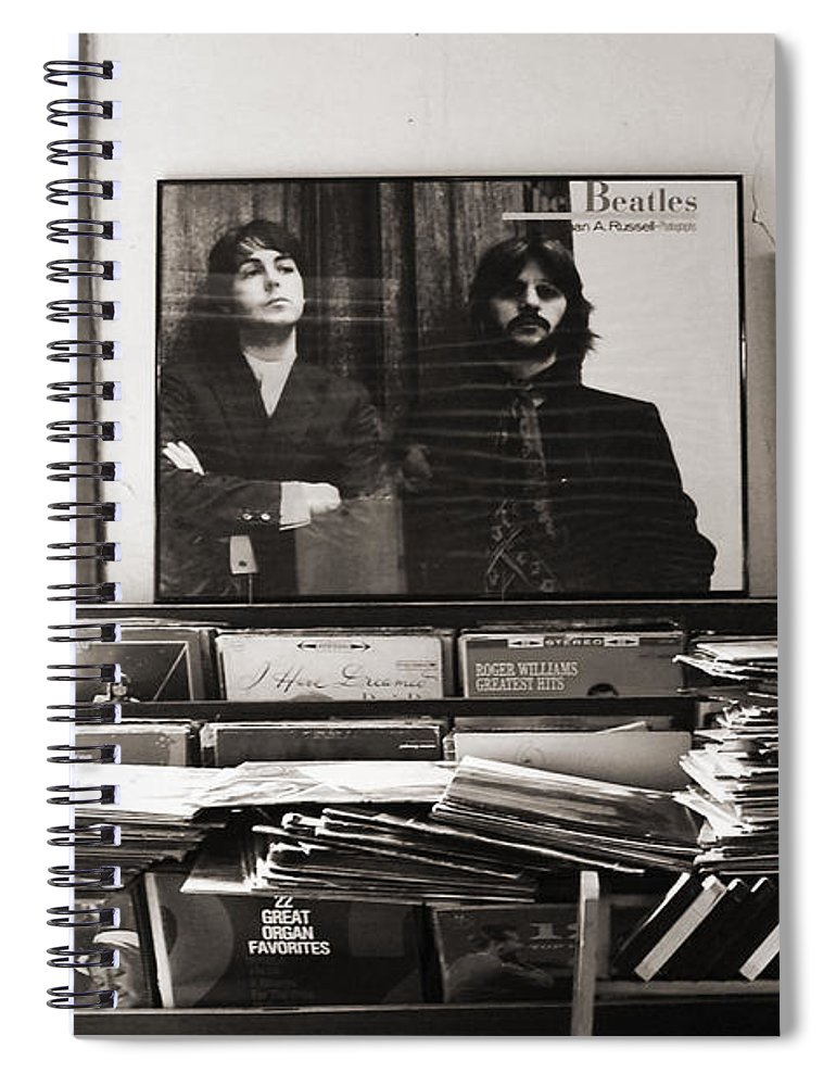 The Beatles Spiral Notebook featuring the photograph The Beatles Yesterday by Anna Payne