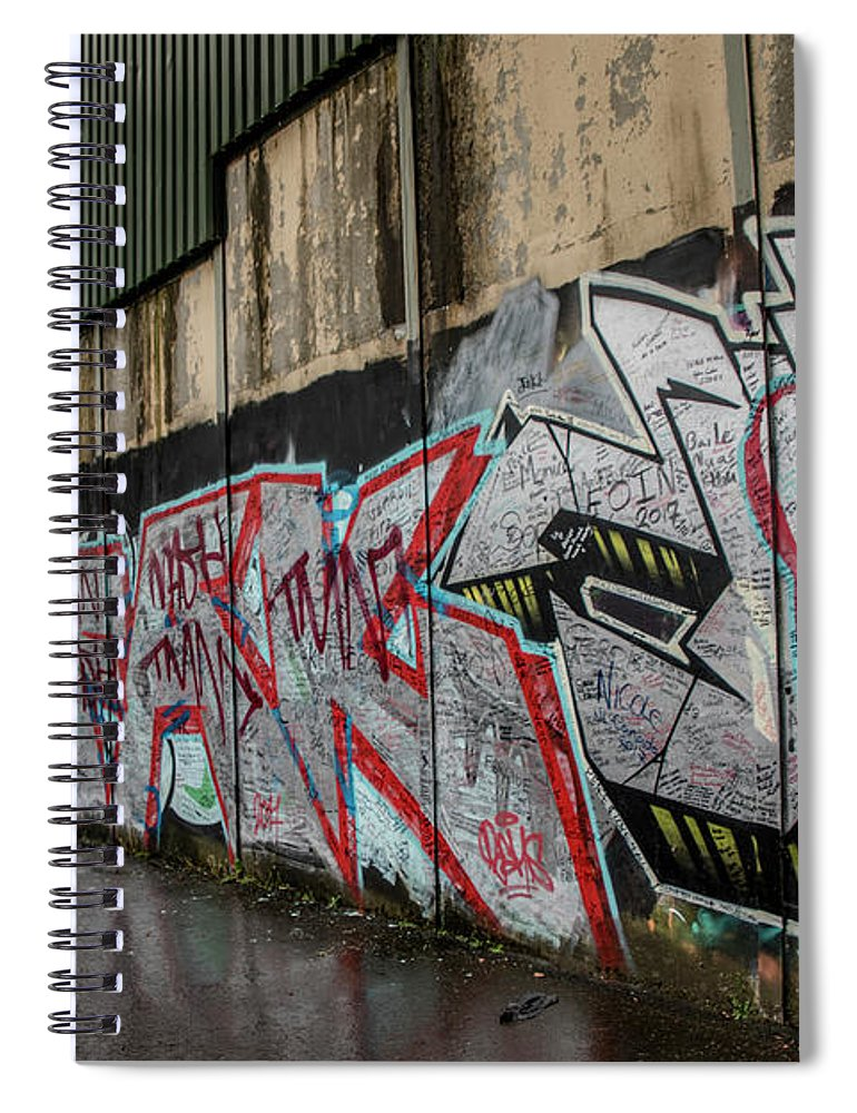 The Belfast Peace Wall Spiral Notebook for Sale by Teresa Wilson