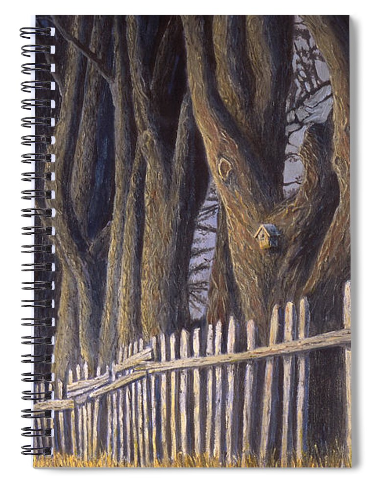 Bird House Spiral Notebook featuring the painting The Bird House by Jerry McElroy
