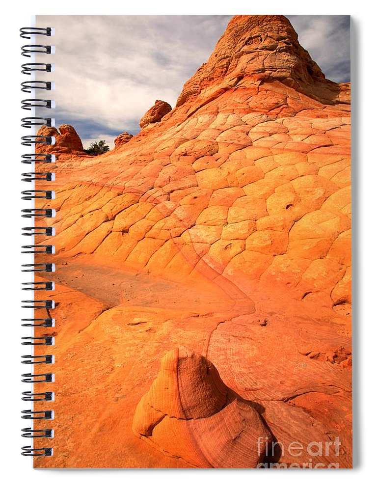 Coyote Buttes Spiral Notebook featuring the photograph The Boot And The Butte by Adam Jewell