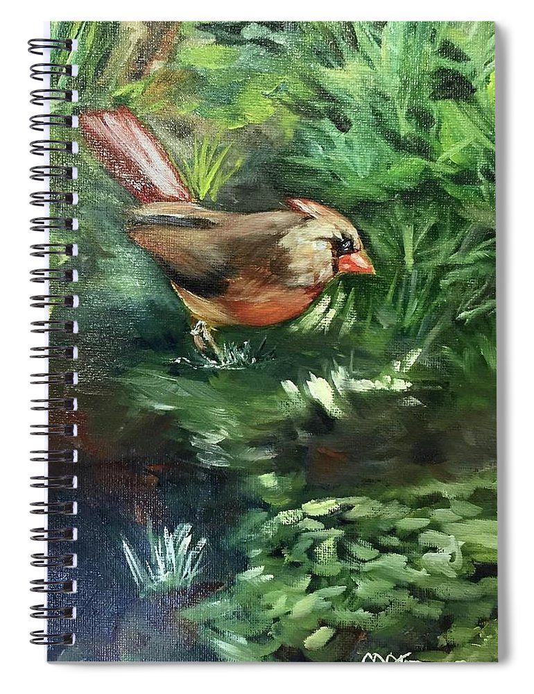 Birds Spiral Notebook featuring the painting The Boss by Melissa Torres