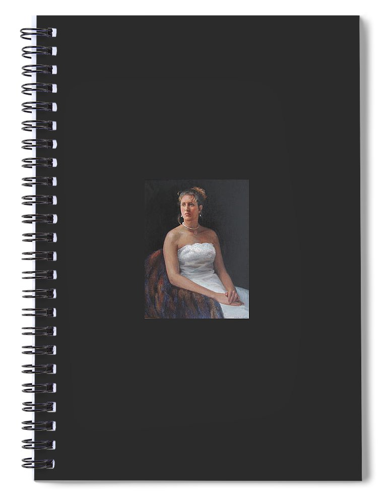 Formal Portrait Spiral Notebook featuring the painting The Bride by Dianne Panarelli Miller