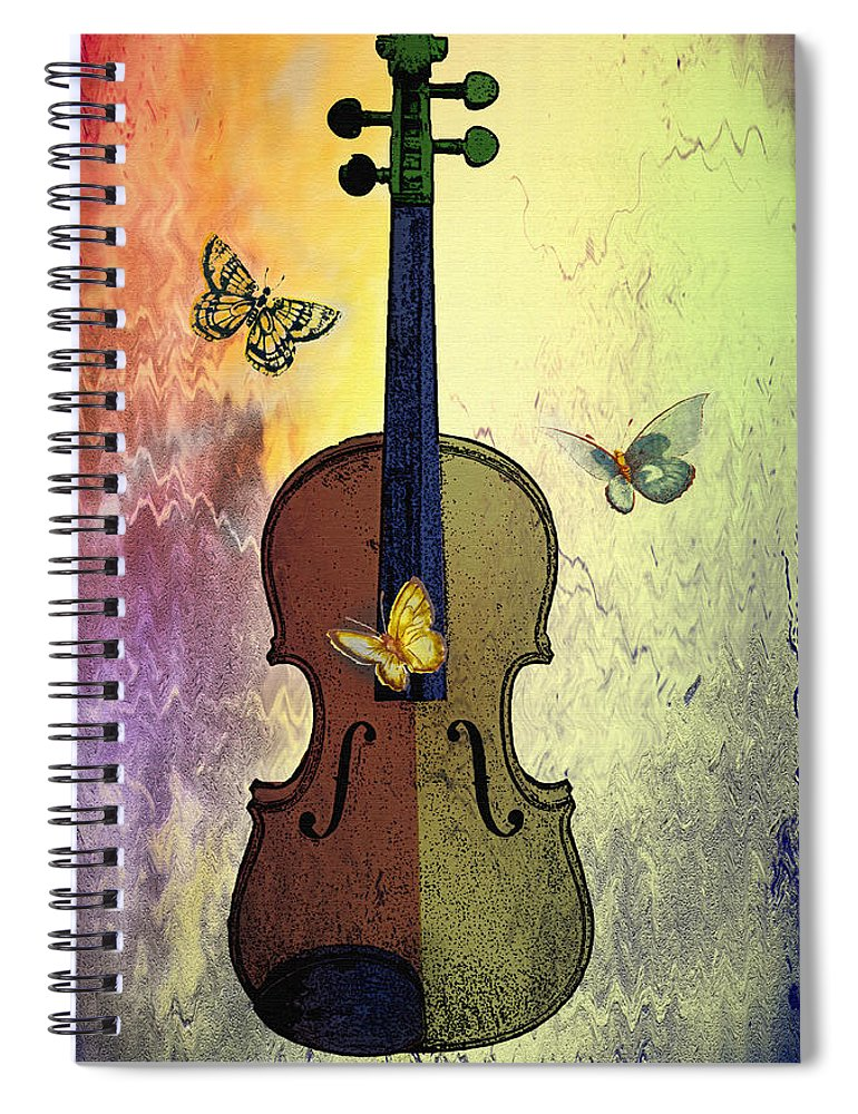Butterflies Spiral Notebook featuring the photograph The Butterflies And The Violin by Bill Cannon