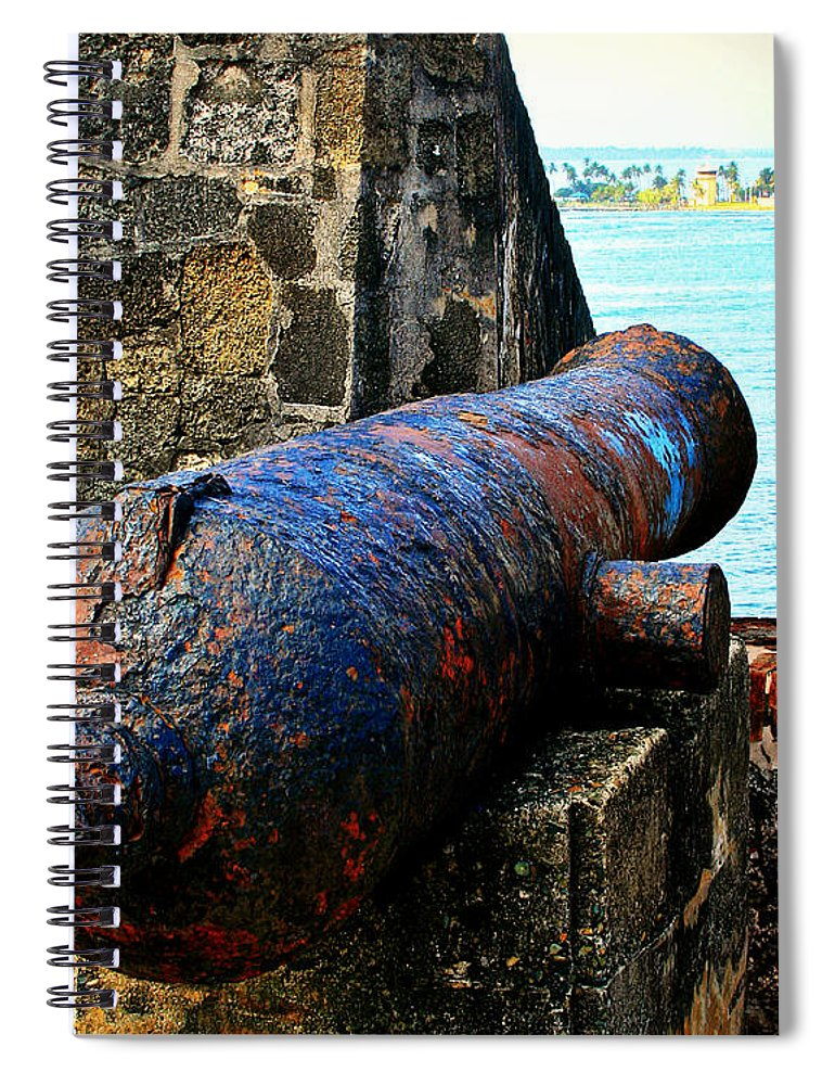 Fort Spiral Notebook featuring the photograph The Cannon by Perry Webster