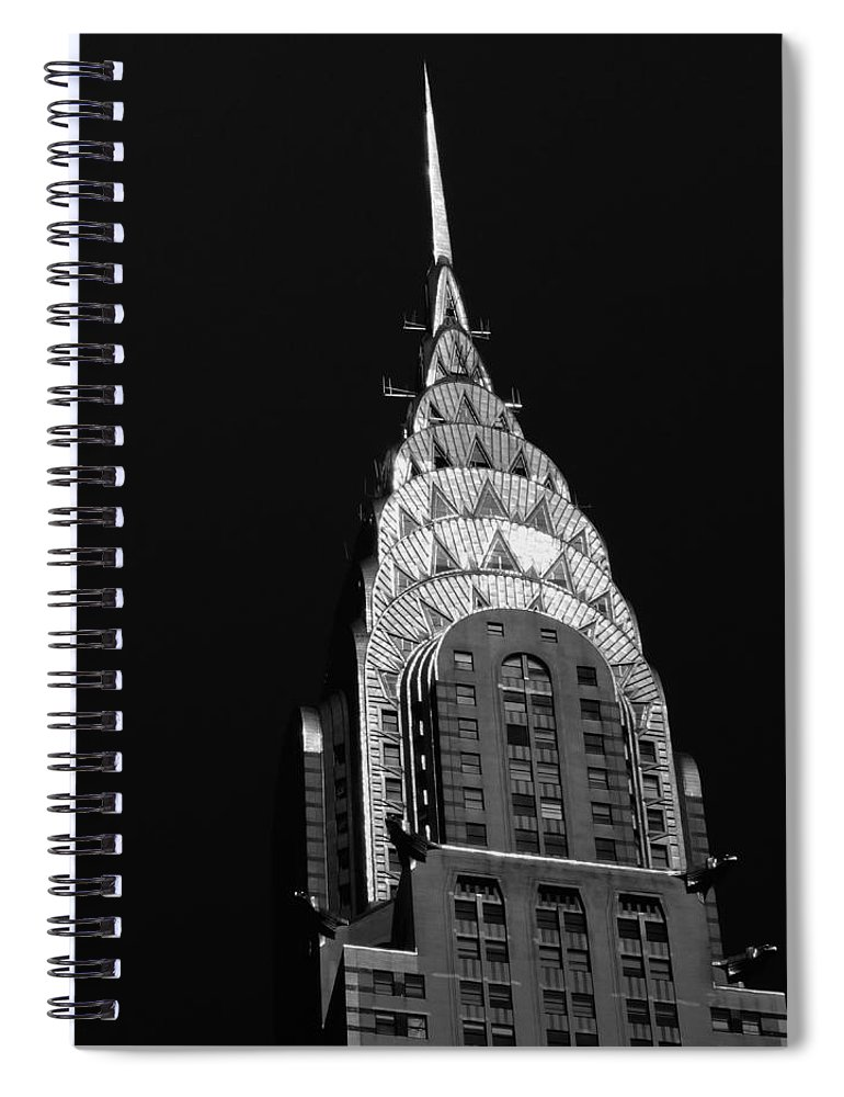 Chrysler Building Spiral Notebook featuring the photograph The Chrysler Building by Vivienne Gucwa