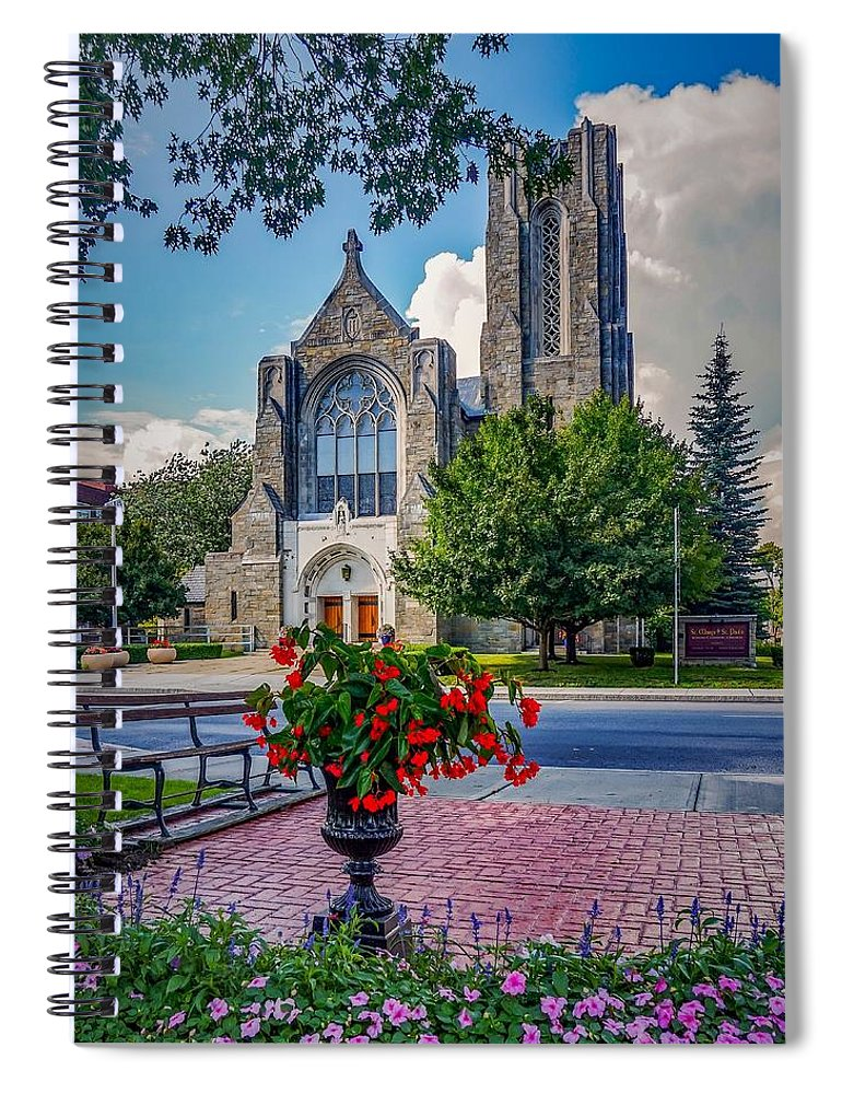 Spiral Notebook featuring the photograph The church in summer by Kendall McKernon