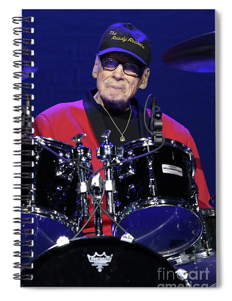 Drummer Spiral Notebook featuring the photograph The Comets - Dick Boccelli by Concert Photos