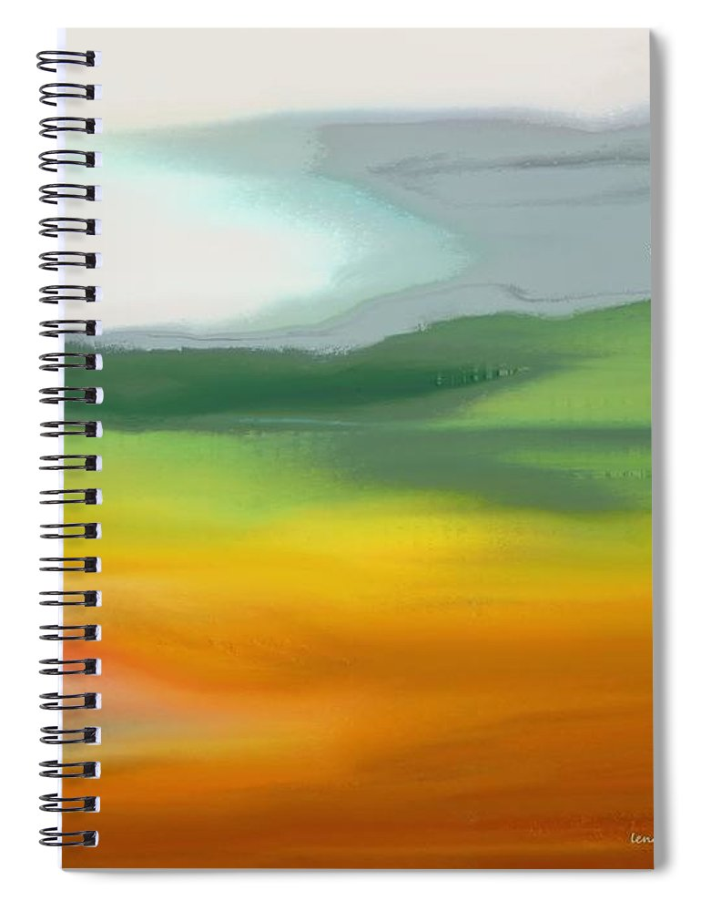 Abstract Spiral Notebook featuring the painting The Distant Hills by Lenore Senior