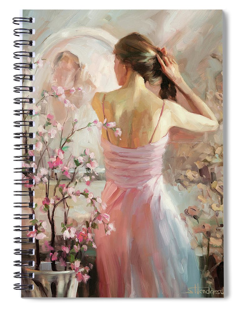 Woman Spiral Notebook featuring the painting The Evening Ahead by Steve Henderson