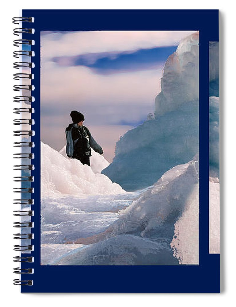 Landscape Spiral Notebook featuring the photograph The Explorers by Steve Karol