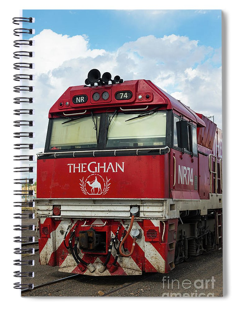 2017 Spiral Notebook featuring the photograph The Famed Ghan Train by Andrew Michael