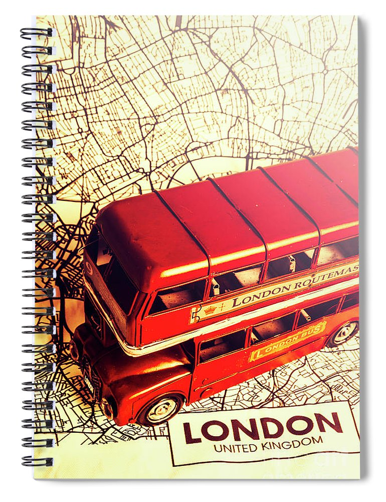 Travel Spiral Notebook featuring the photograph The Famous Red Bus by Jorgo Photography - Wall Art Gallery