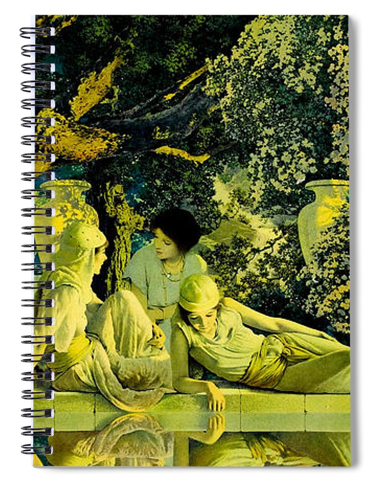 The Garden Of Allah Spiral Notebook for Sale by Maxfield Parrish