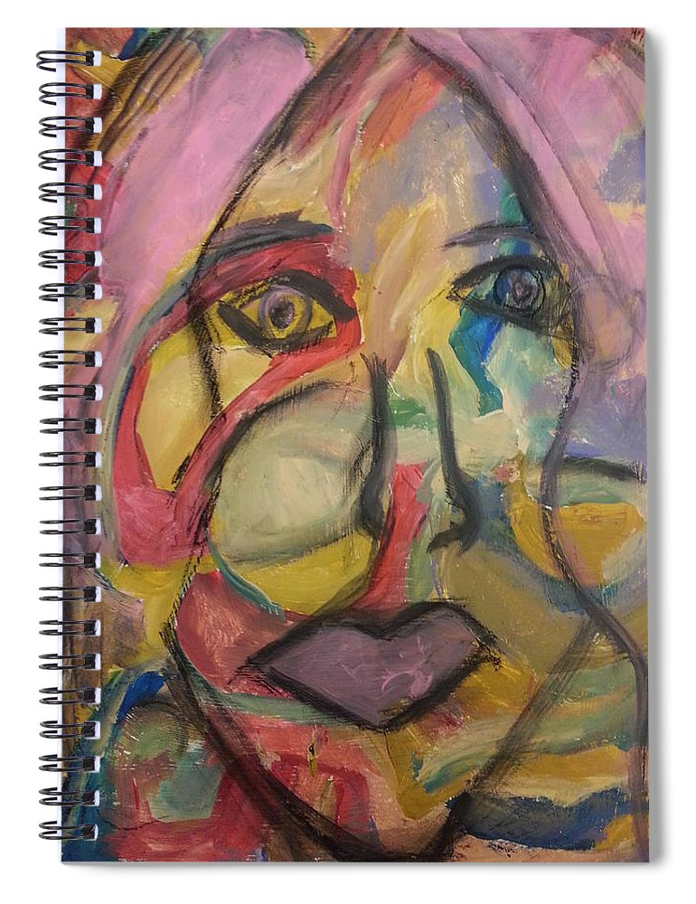Abstract Spiral Notebook featuring the painting The Gaze by Patricia Byron