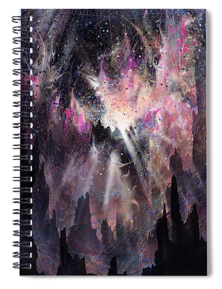 Landscape Spiral Notebook featuring the digital art The Gift by William Russell Nowicki