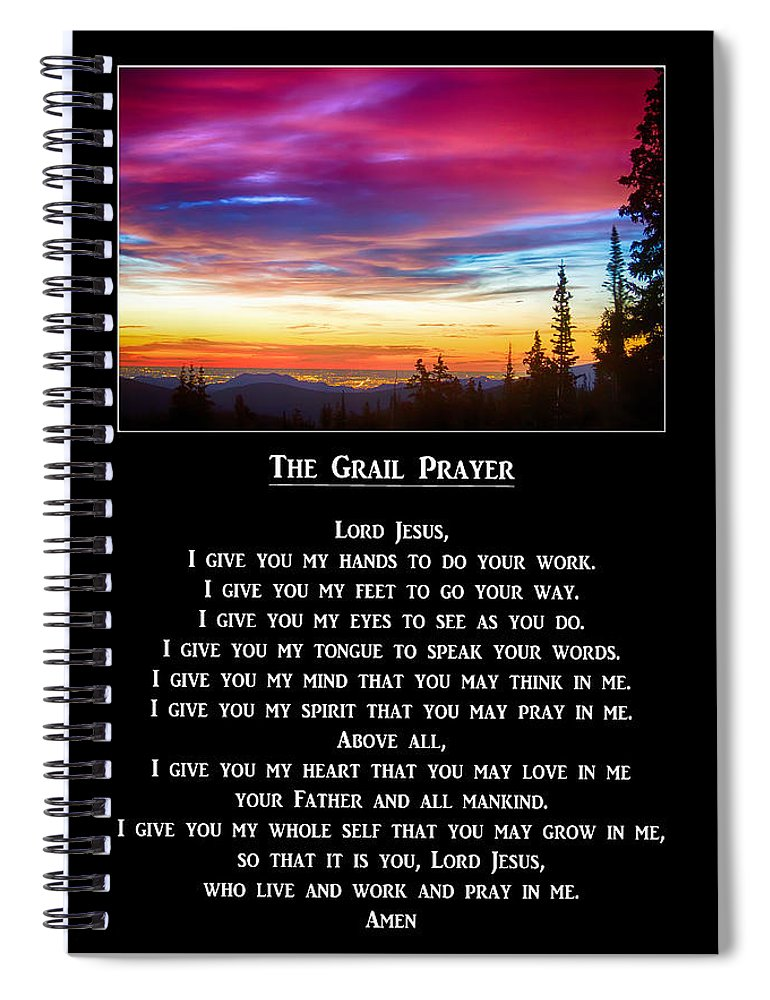 The Grail Prayer Spiral Notebook For Sale By James Bo Insogna