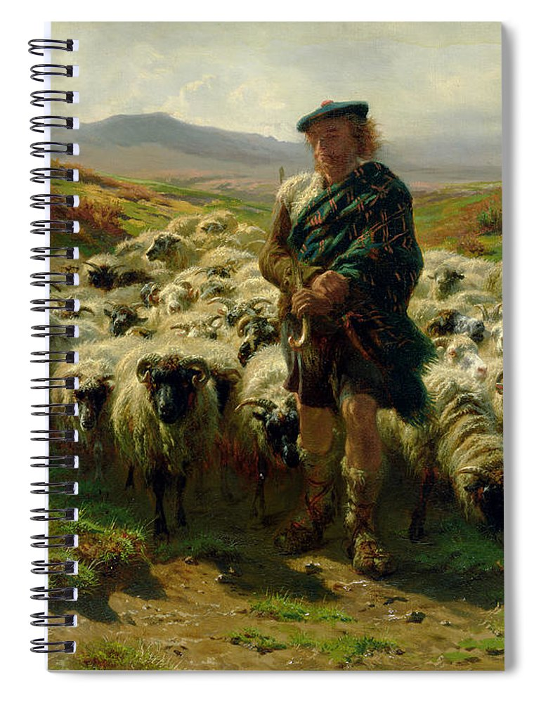 The Spiral Notebook featuring the painting The Highland Shepherd by Rosa Bonheur