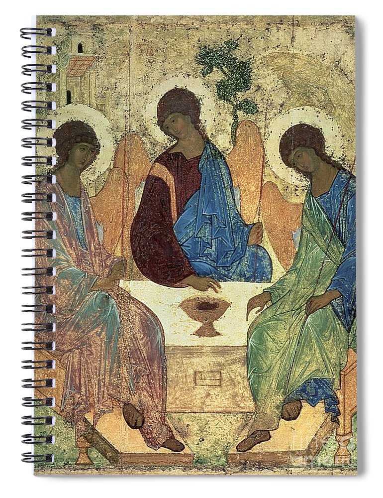 The Spiral Notebook featuring the painting The Holy Trinity by Andrei Rublev