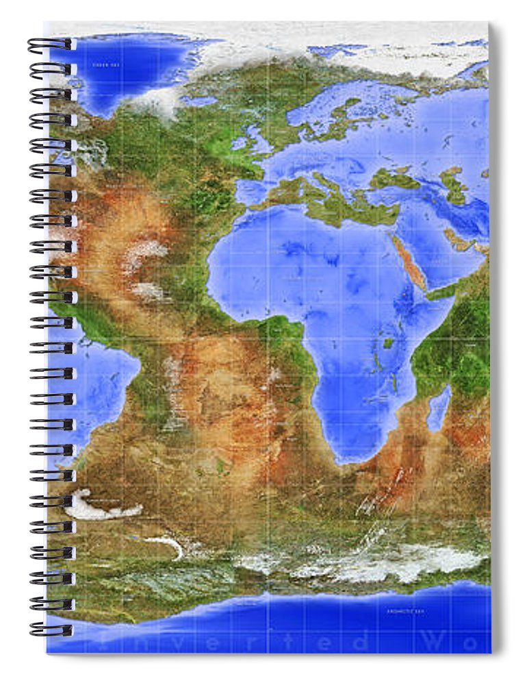 The Inverted World Spiral Notebook For Sale By Frans Blok