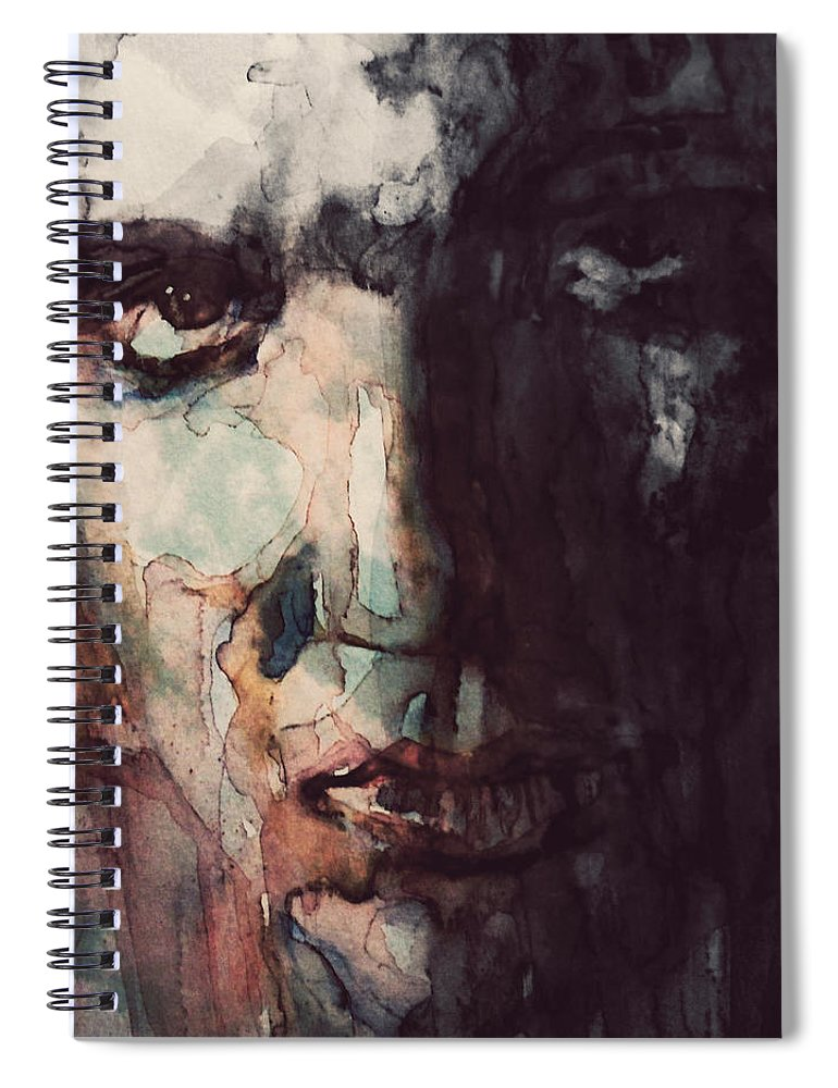 Elvis Spiral Notebook featuring the painting The King by Paul Lovering