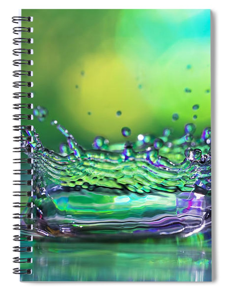Abstract Spiral Notebook featuring the photograph The Kings Crown by Darren Fisher