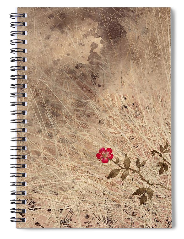 Abstract Spiral Notebook featuring the digital art The Last Blossom by William Russell Nowicki