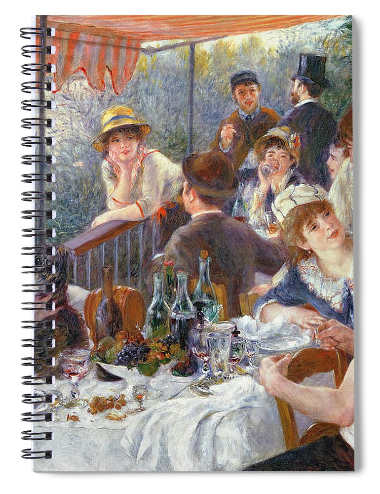 The Spiral Notebook featuring the painting The Luncheon of the Boating Party by Pierre Auguste Renoir