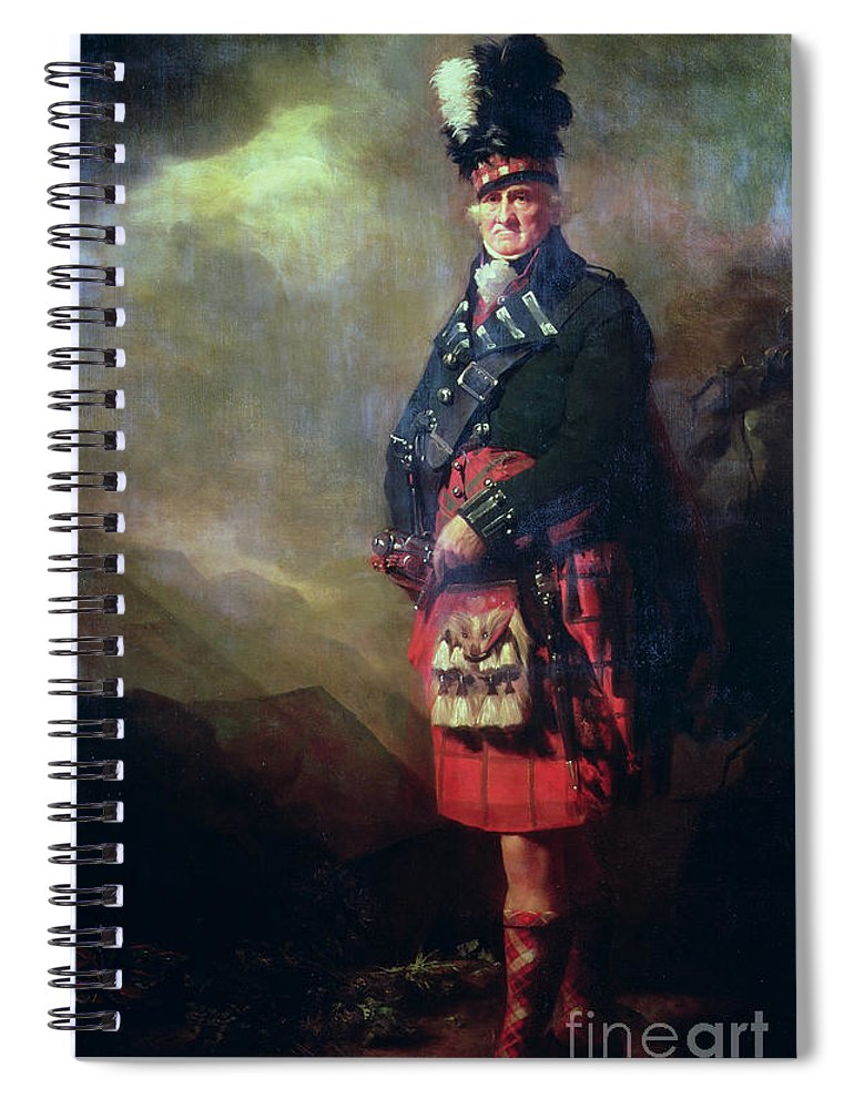 Kilt Spiral Notebook featuring the painting The Macnab by Sir Henry Raeburn