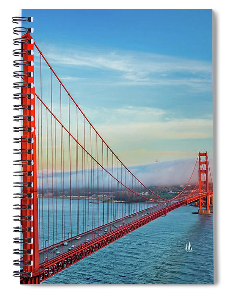 Golden Gate Bridge Spiral Notebook featuring the photograph The Majestic by Az Jackson