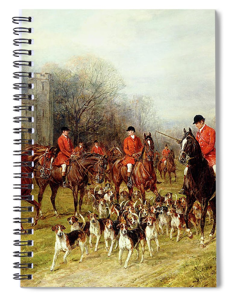 The Meet Spiral Notebook featuring the painting The Meet by Heywood Hardy