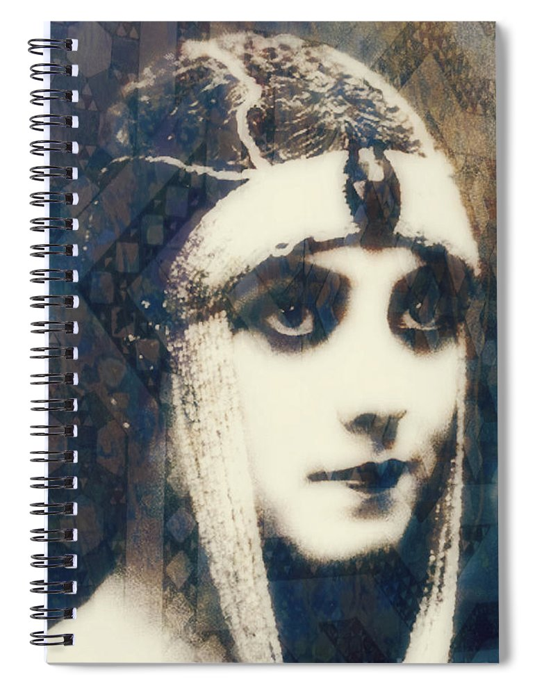 Theda Bara Spiral Notebook featuring the digital art The More I See You , The More I Want You by Paul Lovering