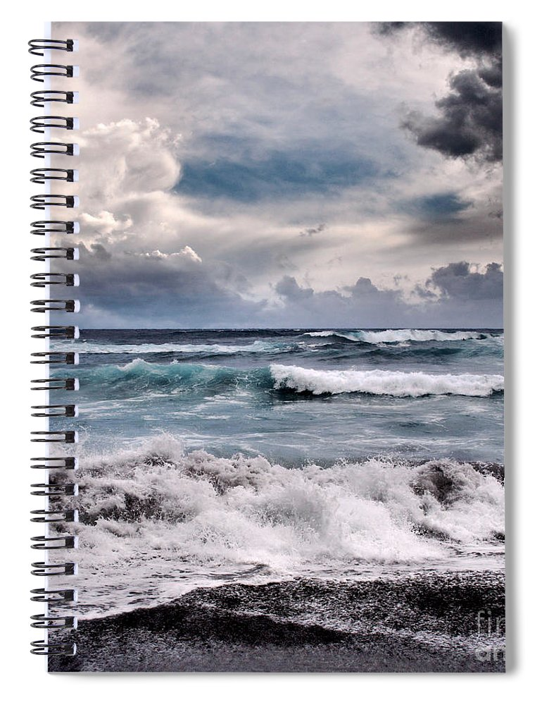 Aloha Spiral Notebook featuring the photograph The Music Of Light by Sharon Mau