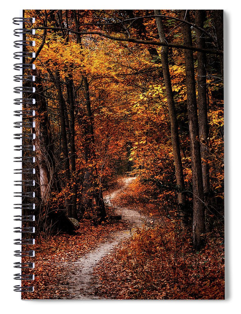 Landscape Spiral Notebook featuring the photograph The Narrow Path by Scott Norris