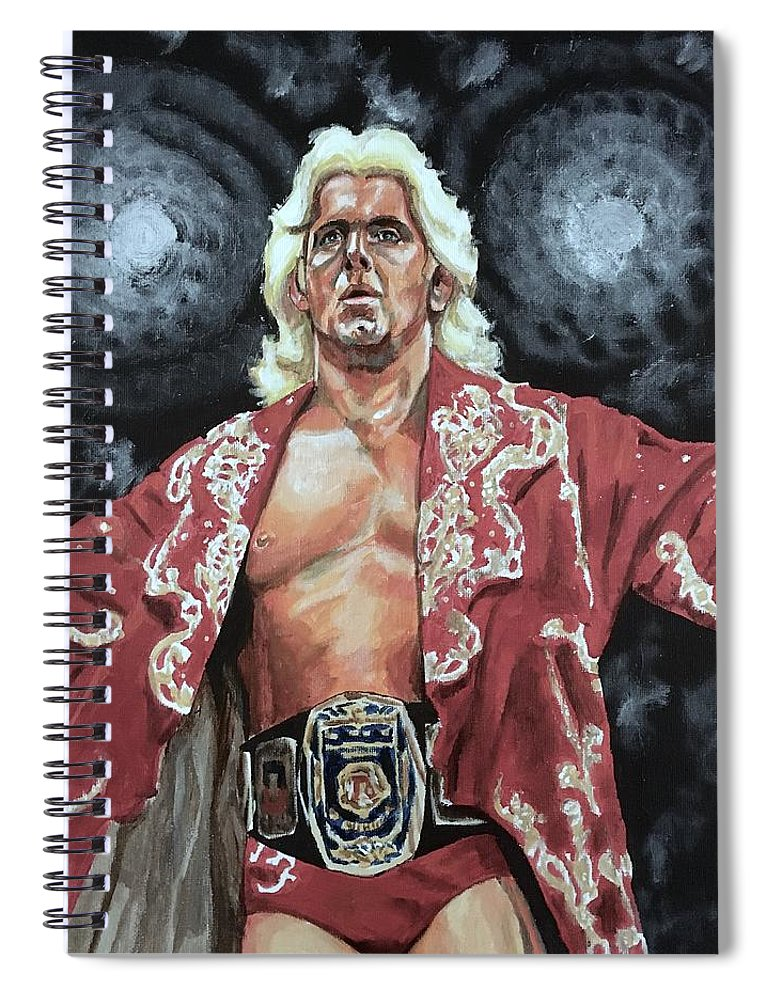 Nature Boy Spiral Notebook featuring the painting The Nature Boy Ric Flair by Joel Tesch