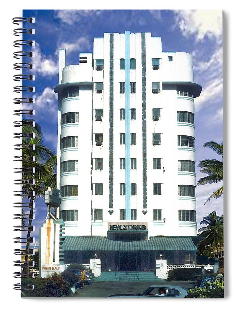 Miami Spiral Notebook featuring the photograph The New Yorker by Steve Karol