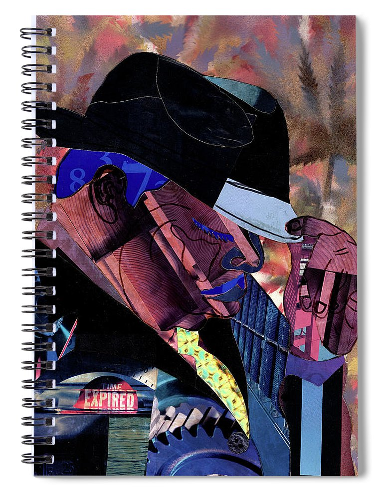 Everett Spruill Spiral Notebook featuring the mixed media The Notorious B.I.G.- Christopher Wallace by Everett Spruill