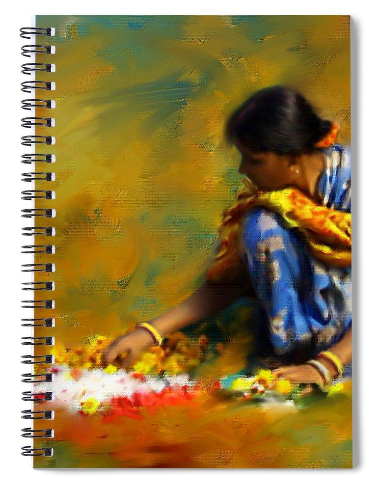 Spiritual Spiral Notebook featuring the digital art The Offerings by Stephen Lucas