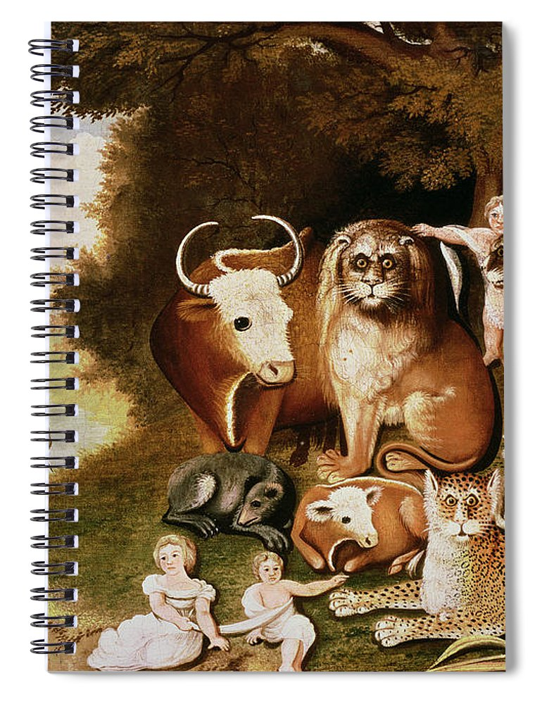 The Spiral Notebook featuring the painting The Peaceable Kingdom by Edward Hicks