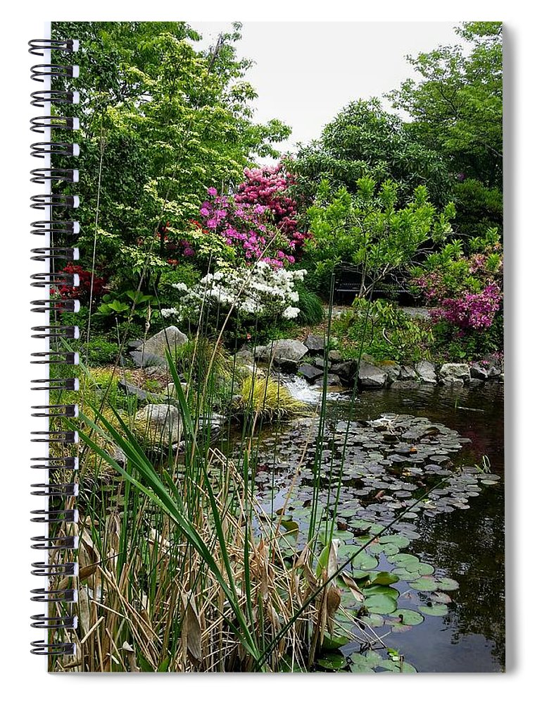 Botanical Flower's Nature Spiral Notebook featuring the photograph The peaceful place 12 by Valerie Josi