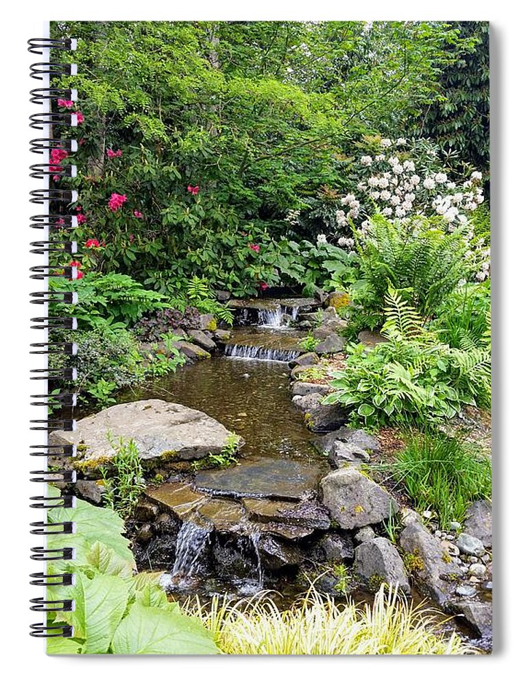 Botanical Floral Nature Spiral Notebook featuring the photograph The peaceful place 3 by Valerie Josi