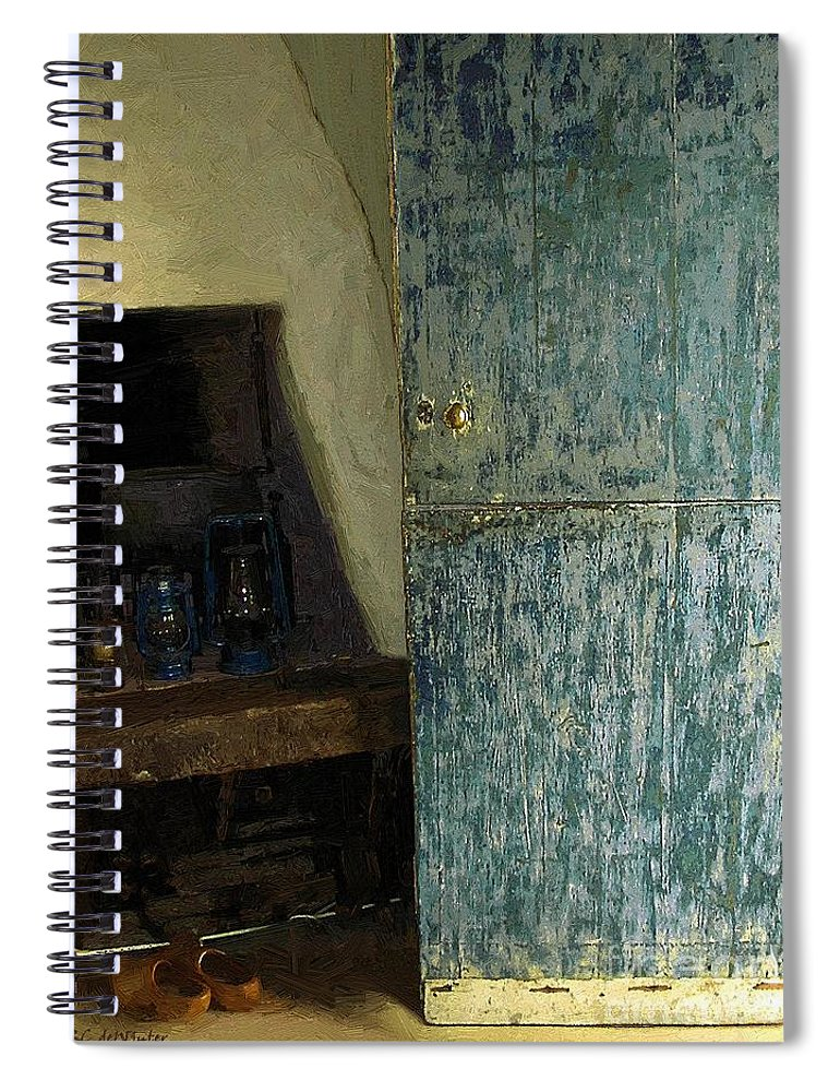 Cookstove Spiral Notebook featuring the painting The Peasant's Dwelling by RC DeWinter