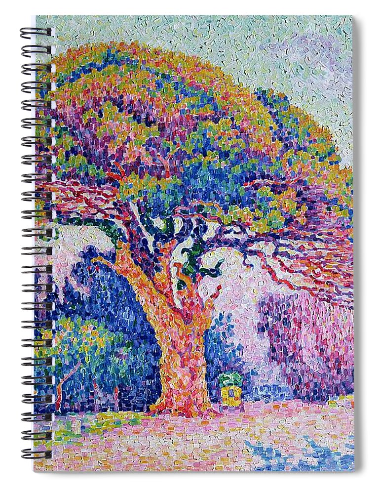 Extraordinaire The Pine Tree At Saint Tropez Spiral Notebook for Sale by Paul Signac &XP_78