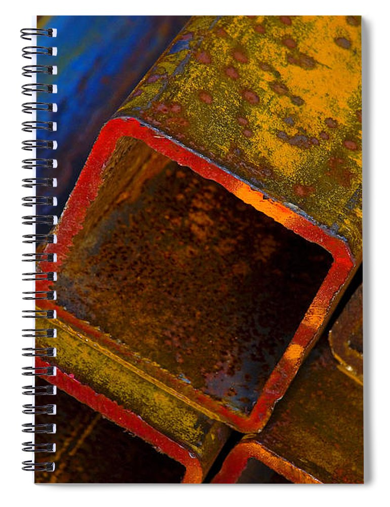 Abstract Spiral Notebook featuring the photograph The River by Skip Hunt