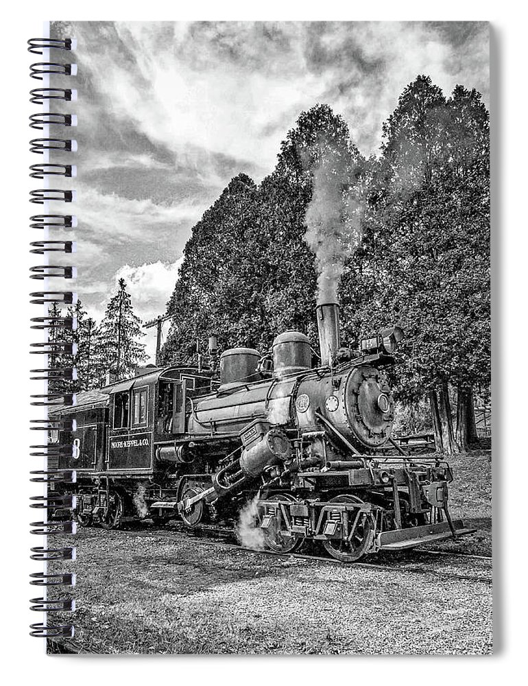 Pocahontas County Spiral Notebook featuring the photograph The Rocket Monochrome by Steve Harrington
