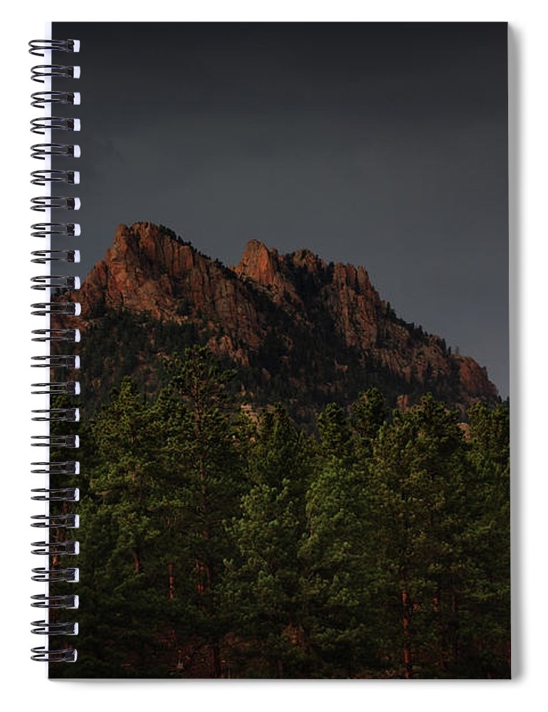 The Spiral Notebook featuring the photograph The Rugged Beauty Of Long Scraggy by Brian Gustafson