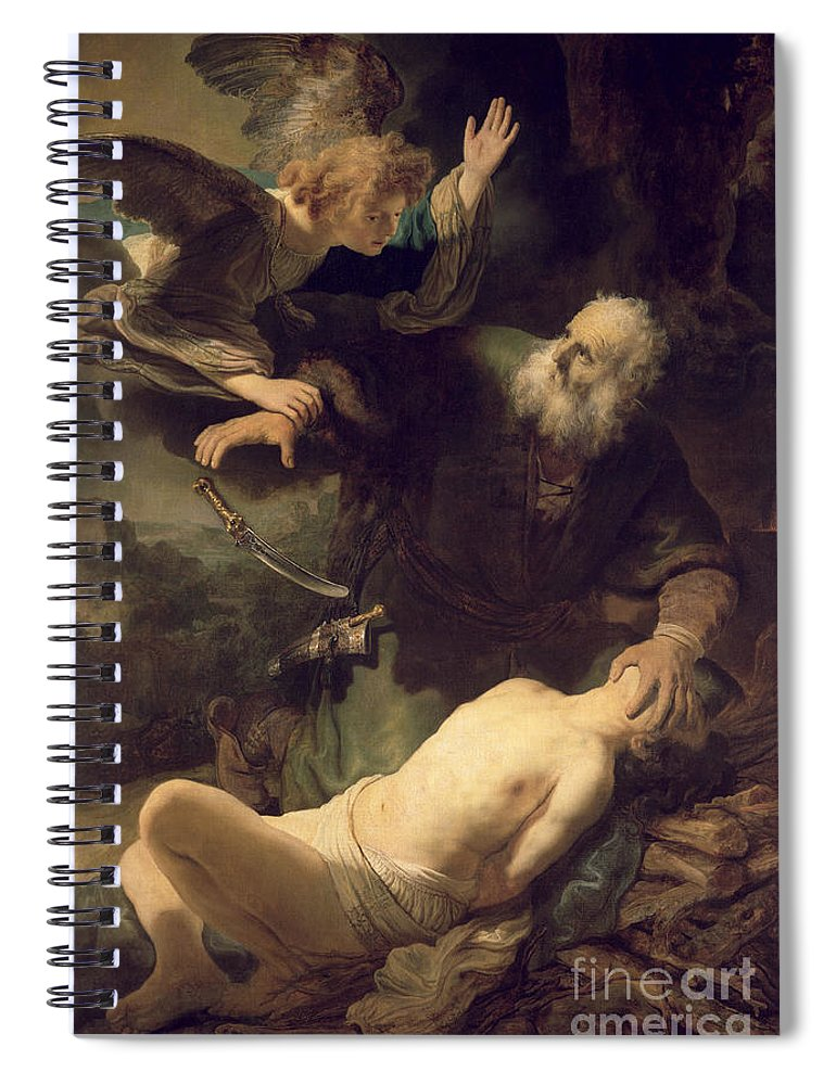 Rembrandt Spiral Notebook featuring the painting The Sacrifice Of Abraham by Rembrandt