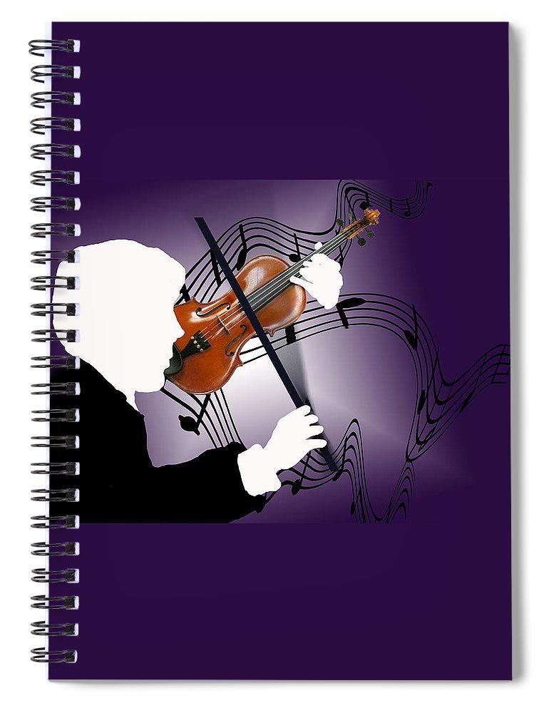 Violin Spiral Notebook featuring the digital art The Soloist by Steve Karol