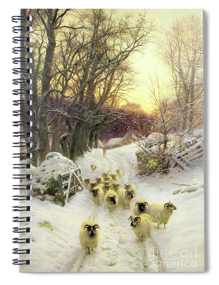 Sunset Spiral Notebook featuring the painting The Sun Had Closed The Winter's Day by Joseph Farquharson