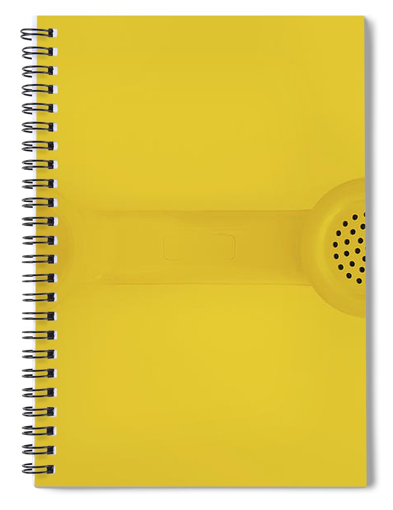 Telephone Spiral Notebook featuring the photograph The Telephone Handset by Scott Norris